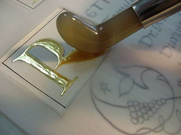 Manuscript gilding; The Abbey Studio