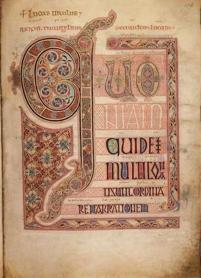 Lindisfarne Gospels, British Library, medieval, manuscript