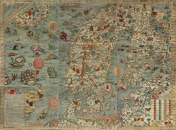 Carta Marina, map monsters, Magnus, Renaissance maps