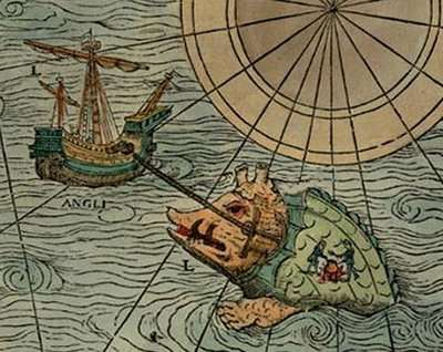 map monsters, Carta Marina, medieval maps