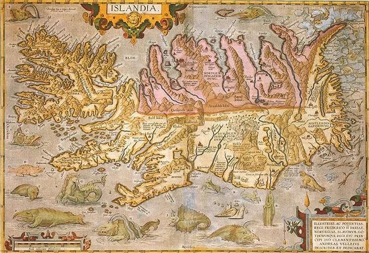 Renaissance maps, Islandia, Ortelius