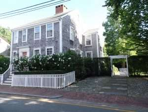 House with fence on Nantucket, MA, The Abbey Studio