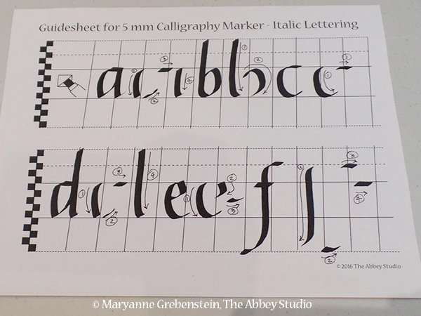 Calligraphy for kids, The Abbey Studio