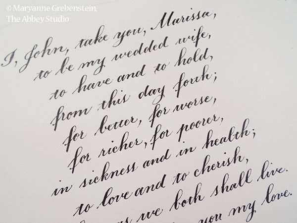 Copperplate calligraphy, The Abbey Studio