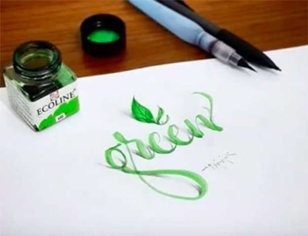 3D lettering, 3-D lettering, calligraphy