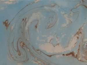 The Abbey Studio, paper marbling, marbled paper, workshop