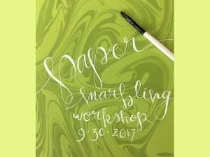 The Abbey Studio; paper marbling; marbling; suminigashi; Marblehead