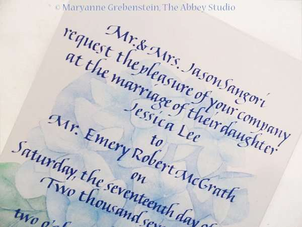 The Abbey Studio, Calligraphy, Maryanne Grebenstein, italic