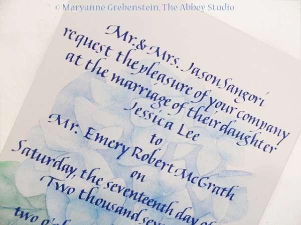 The Abbey Studio, Calligraphy, Maryanne Grebenstein, italic