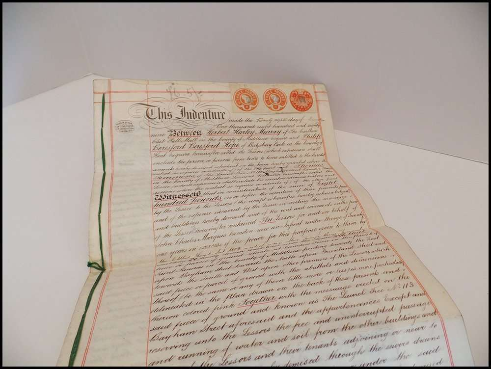 A real estate contract from 1889; The Abbey Studio