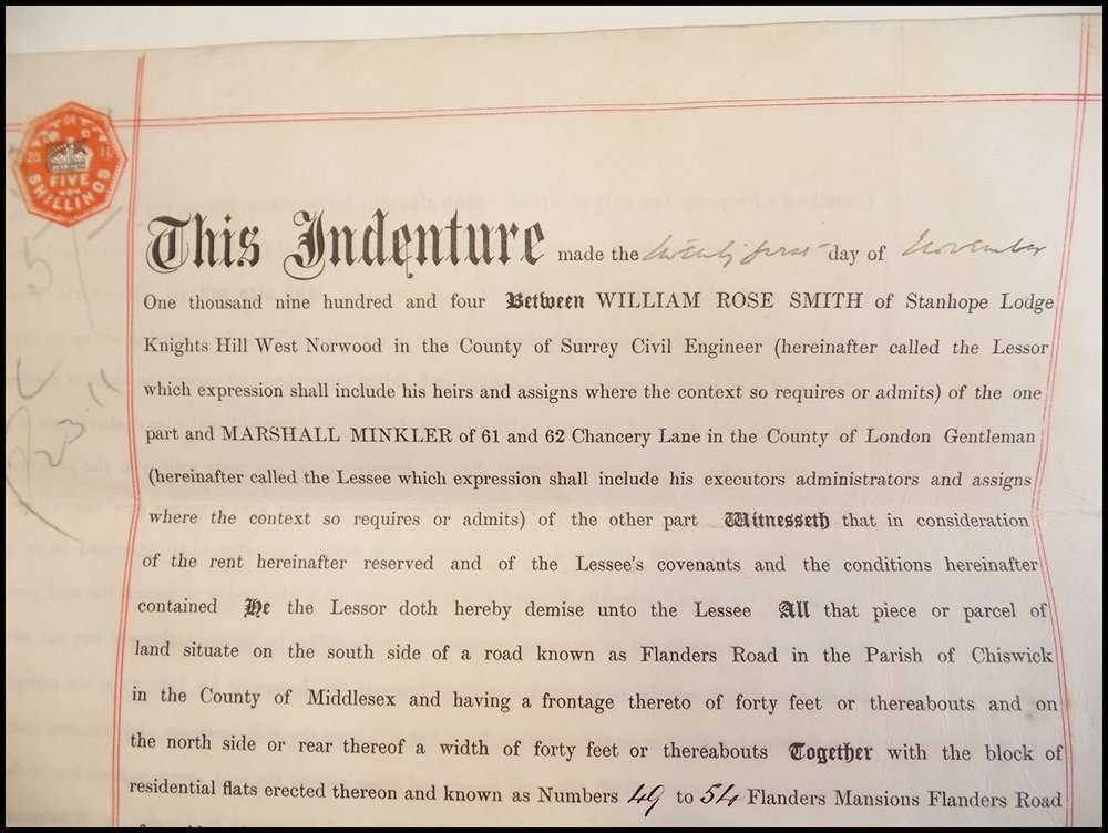 A 1904 document on calfskin vellum