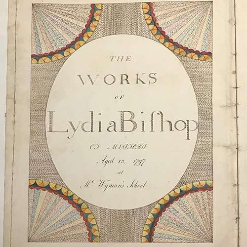 Title page of Lydia Bishop manuscript, The Abbey Studio