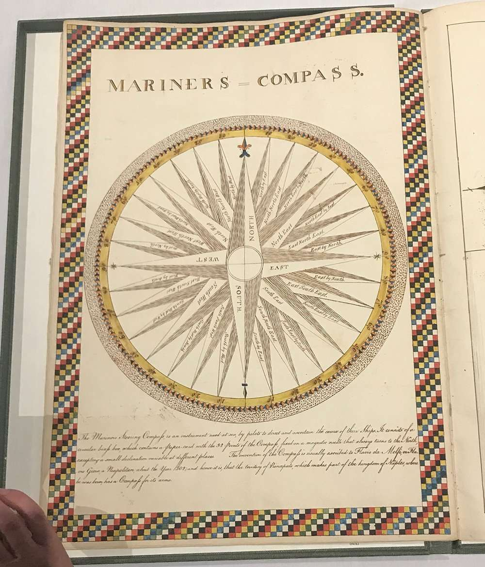 Mariners Compass from Lydia Bishop manuscript, The Abbey Studio