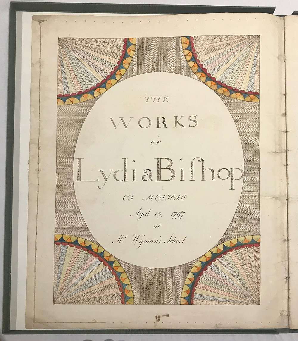 Title page, Lydia Bishop manuscript, The Abbey Studio