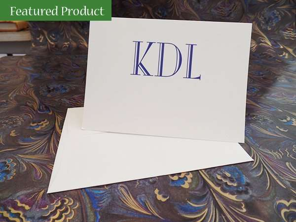 Custom Monogram Notes; The Abbey Studio