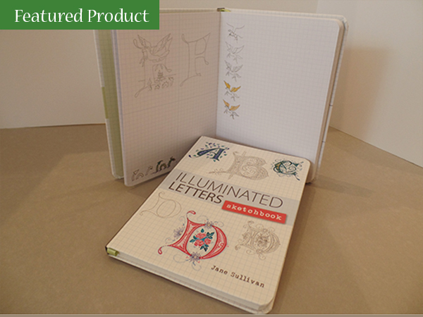 The Abbey Studio; illuminated letters sketchbook