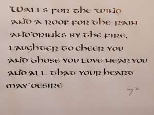 Uncial, Uncial calligraphy, Book of Kells, The Abbey Studio