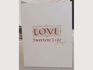 Valentine's Day card; The Abbey Studio