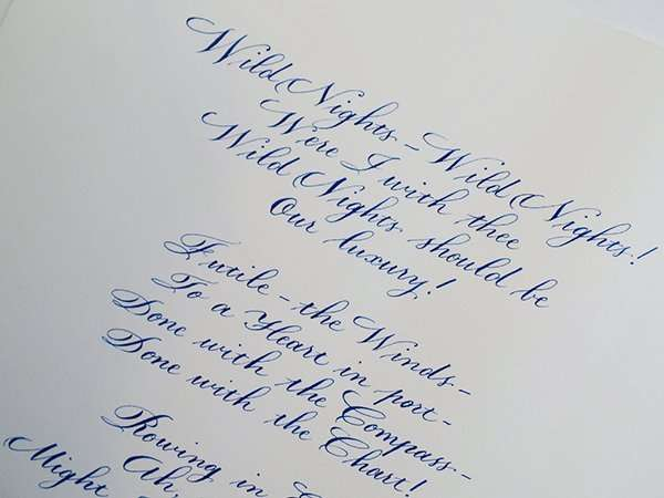Modern Calligraphy and Copperplate